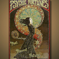 Psychic Fortunes Print Art Nouveau Gypsy Circus by EmilyBalivet
