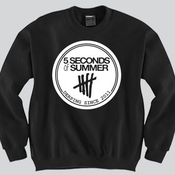 5 Second Of Summer Derping Since 2011 Unisex Crewneck Funny and Music