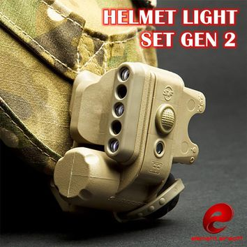 Element SF Helmet Light Set G2 Military Tactical Light White Red Ir Led Flashlight Fit Bicycle Motorcycle Helmet lights EX029