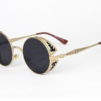 TELAM Retro Round Sunglasses, Miss Jin Shu Tide Sunglasses.