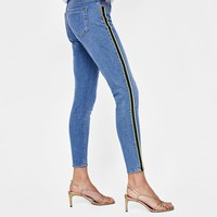 Z1975 JEANS WITH SIDE STRIPES DETAILS