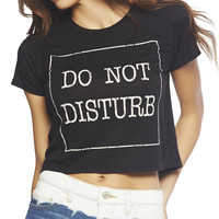 Do Not Disturb Crop Tee | Wet Seal