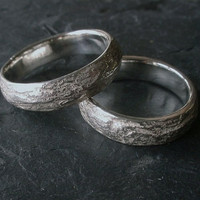 Shale Wedding Bands natural wedding ring by MikaScott on Etsy