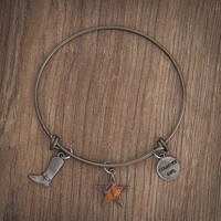 Realtree Country Girl Charm Bangle Bracelet