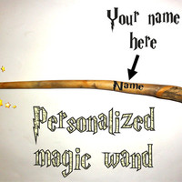 Magic wand personalized. Harry Potter magic wand. Unique natural Your name on your magic wand. Custom name printed magic wands.Keepsake wand