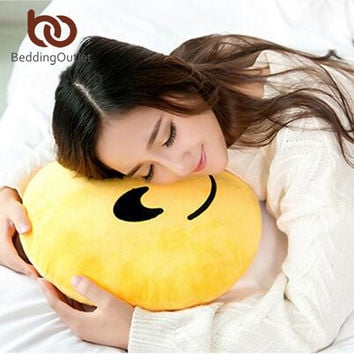 BeddingOutlet Naughty Cushion Home Decor Emoji Pillow Smiley Face Pillow Stuffed Toy Doll 32cmx32cm Best Sell