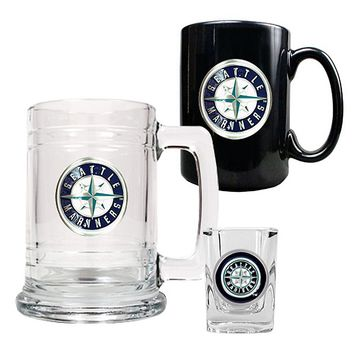 Seattle Mariners 3-pc. Mug & Shot Glass Set