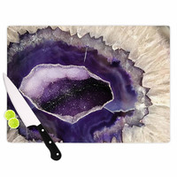 "Sylvia Cook ""Purple Quartz"" Lavender White Cutting Board"