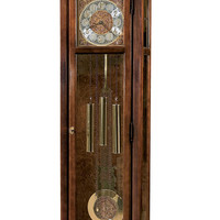 Burnett Cherry Cable Drive Grandfather Clock by Howard Miller