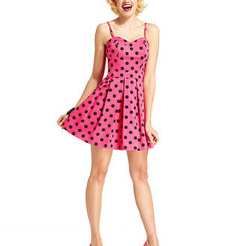 Marilyn Monroe Juniors Dress, Sleeveless Polkadot-Print A-Line - Juniors Marilyn Monroe - Macy's