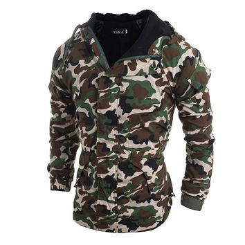 Spring Winter Jacket Fashion Men Parkas Outerwear Military Camouflage Hooded Coat Men Thickening Cotton-padded Jacket XXL 903509