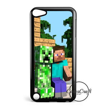 Minecraft Steve Creeper iPod Touch 5 Case