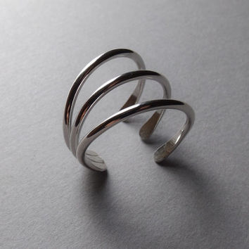 Modern Cage Ring, Simple Jewelry, Modern Ring, Open Ring, Modern Jewelry, Open Cage Ring, Claw Ring, Skeleton Ring, Modern Claw Ring, Ring