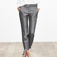 Banana Republic Womens Monogram Gunmetal Boy Crop