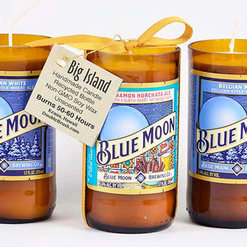 Blue Moon Candle Beer Lover Gift
