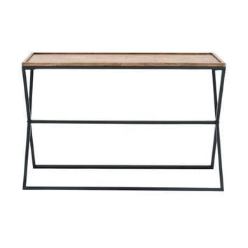"Metal Wood Console 47""W, 32""H"