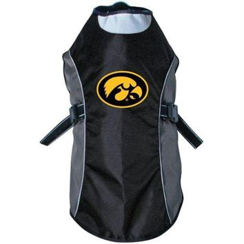 DCCKT9W Iowa Hawkeyes Water Resistant Reflective Pet Jacket
