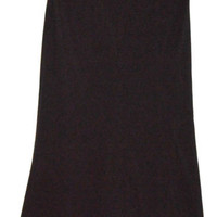 NYCC Size 10 Long Black Skirt New York Clothing Co Poly Spandex
