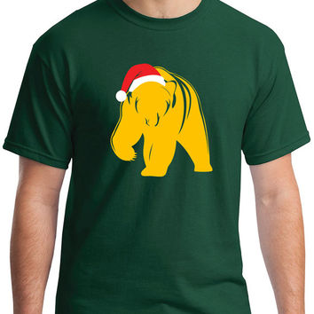 Christmas Baylor Bear Green Youth and Adult T-shirt