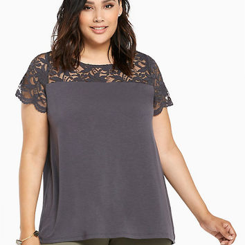 Lace Inset Tee