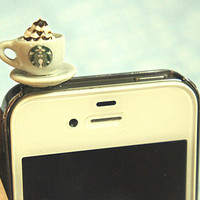 Starbucks coffee earphone plug