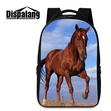 Cool Backpack school Personalized School Backpacks for Teen Boys Cool Bookbags for Children High Class Students Laptop Backpacking Bags Horse Mochila AT_52_3