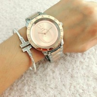 BRAND NEW LIMITED SILVER PINK WATCH gold, sterling plated, 925 resemble~pandora