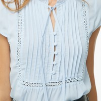Chiffon Split Neck Top
