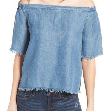 BP. Off the Shoulder Denim Top | Nordstrom
