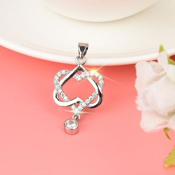 Fashion Women Double Heart Jewelry