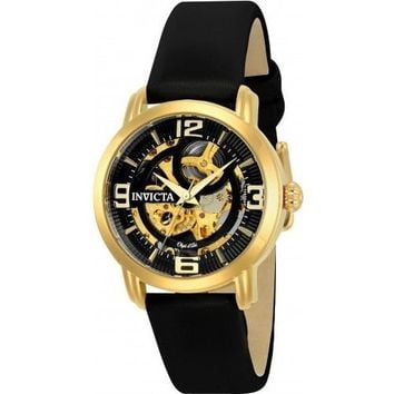 Invicta Women's 22654 Objet D Art Automatic 3 Hand Black Dial Watch