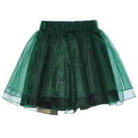 ROMWE | Green Organza Skirt, The Latest Street Fashion