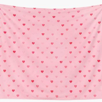 'Candy hearts' Wall Tapestry by Jessica Ivy