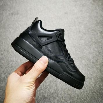 Air Jordan 4 Retro Black Cat Toddler Kid Shoes Child Sneakers - Best Deal Online