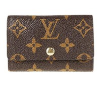 LV Louis Vuitton Trending Women Men Window Pattern - Double-Open Style - Key Pouch