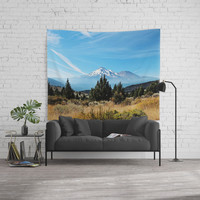 Mt. Shasta Wall Tapestry by sylviacookphotography
