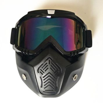 Ski goggles Cool outdoor sports glasses ski mask motorcycle goggles dust mask Cycling Glasses Sports Goggles