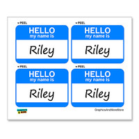 Riley Hello My Name Is - Sheet of 4 Stickers