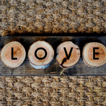 LOVE // Inspirational Quote Wooden Sign
