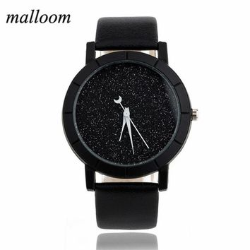 Solid Star Minimalist Fashion Women Watches For Lovers Leatheroid Strap Watch Women Ladies Wacth Montre Femme Relojes #NI