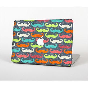 The Colorful Scratched Mustache Pattern Skin Set for the Apple MacBook Air 11""