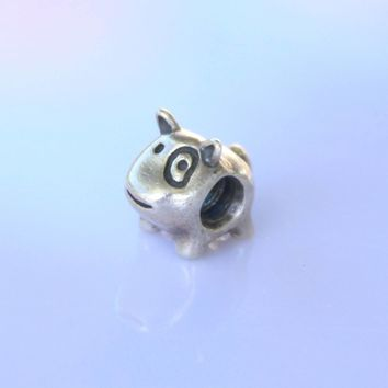 authentic patch the dog Sterling Silver charm fits european and pandora charm bracelet