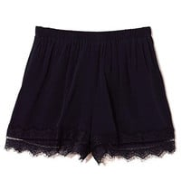 Black Lace Edge Shorts
