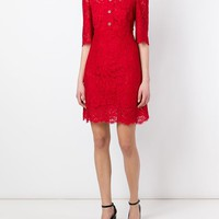 Dolce & Gabbana Floral Lace Buttoned Dress - Papini - Farfetch.com