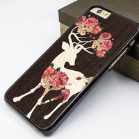 iphone 6 case,deer flower iphone 6 plus case,art deer iphone 5s case,deer flower iphone 5c case,art wood design iphone 5 cover,deer flower iphone 4s case,gift iphone 4 cover
