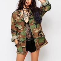 Milk It Vintage Oversized Camo Jacket