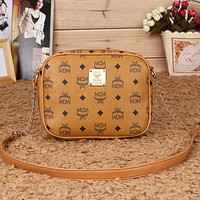MCM Women Fashion Leather Satchel Tote Shoulder Bag Crossbody
