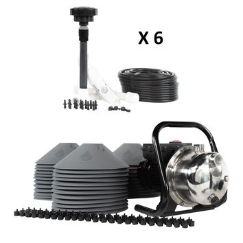 All in One Professional 36-Plant Grow Kit - Includes Drip Irrigation Emitters, Pump, Hydrolock Caps, Fittings, Bubbler Manifold, Tubing. Indoor & Outdoor Use - USA Made