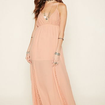 Floral Lace-Paneled Maxi Dress - Women - New Arrivals - 2000176230 - Forever 21 EU English