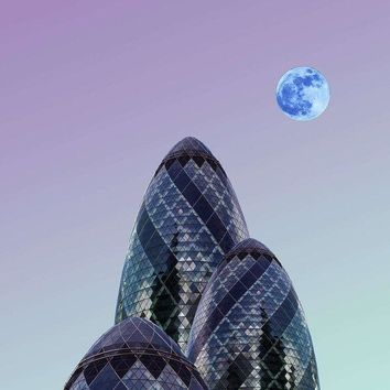 Urban Architecture - London, United Kingdom 8s - Art Print